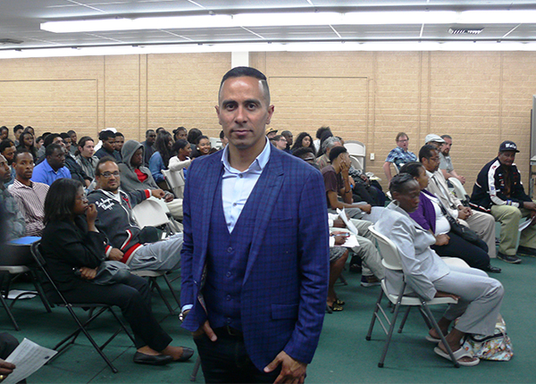 Arthur Guerrero, Lead Business Representative at South Los Angeles WorkSource Center (Brian Carter/ L.A. Sentinel)
