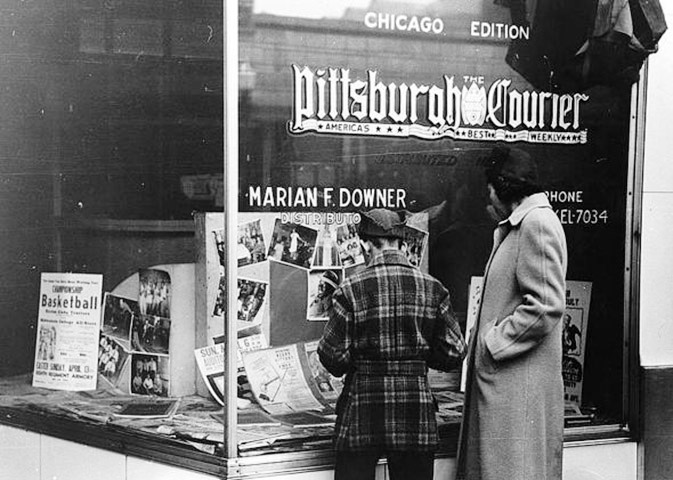 The Pittsburgh Courier's circulation averaged 500,000 readers weekly during the Great Migration. (Pittsburgh Courier archives)