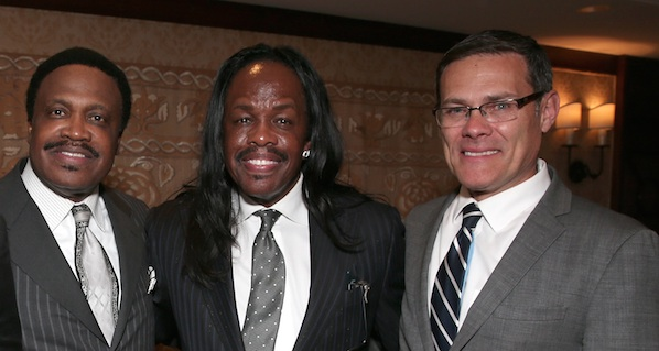 Dr. Kenneth C. Ulmer, Verdine White and Consul General of Isreal David Siegel. (Photo by Todd Williamson/Getty Images for The Ulmer Institute)