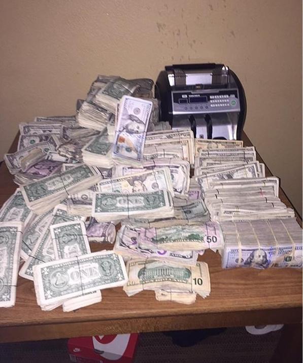 Seized money.