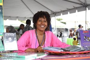 Actress Vernee Watson, the queen of commercials, has been one of the many authors, showcasing their work at the Leimert Park Village Book Fair.Photos Courtesy of Exum and Associates