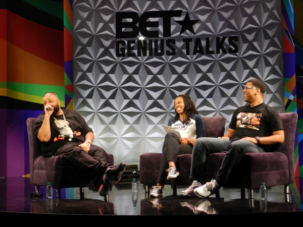 Celebs hit the stage for BET Experience Genius Talks. (Robert Torrence/LA Sentinel photography)