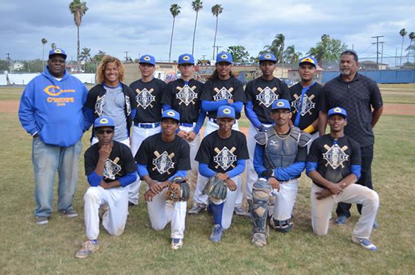 the Crenshaw Cougars baseball team (Amanda Scurlock/ L.A. Sentinel)