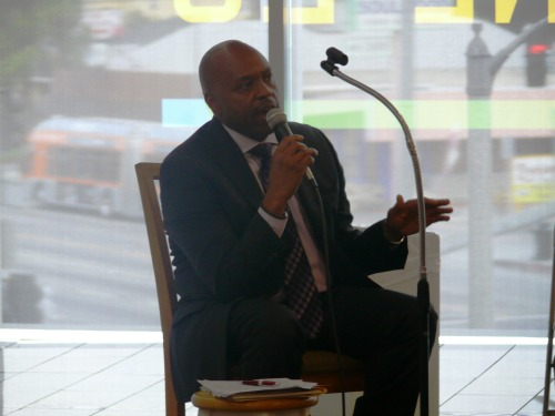 Metro CEO Phil Washington responded to presentations from local organizations and was in agreement to address many of the concerns.(Photo Credit: Brian W. Carter)