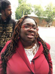 Black Lives Matter Attorney Nana Gyamfi following sentencing of activist Jasmine Richards, aka Jasmine Abdullah, on June 7 Courtesy Photo
