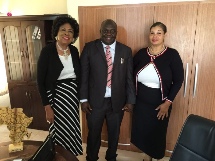 the honorable Diane E. Watson, (center) the Consulate of the Central African Republic, Ambassador Tochil Nwaneri, and (right) Stephanie Grayson aid to Ambassador Watson