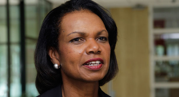 Condoleezza Rice, Donald Trump. (Photo Illustration: Yahoo News, photos: AP, Jonathan Drake/Reuters