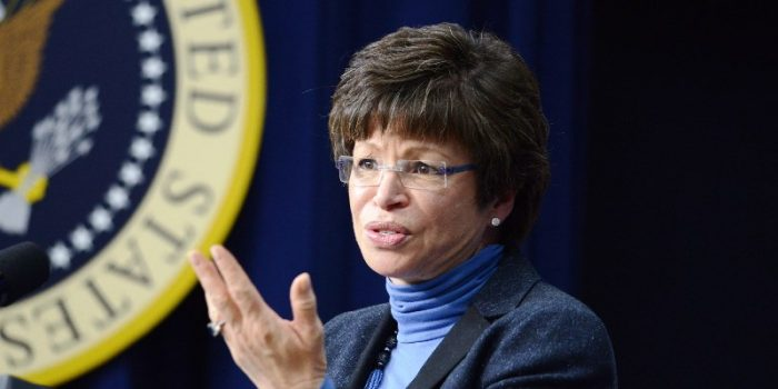 White House Senior Advisor Valerie Jarrett will discuss Criminal Justice Reform with the nation's mayors on Saturday, June 25 on the topic of Making Bipartisan Criminal Justice Reform a Reality at The U.S. Conference of Mayors 84th Annual Meeting in Indianapolis. (AP file photo)