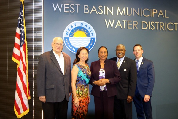 West Basin Municipal Water District Board of Directors from left to right: Ronald L. Dear, Carol W. Kwan, Gloria D. Gray, Harold C. Williams and Scott Houston. (courtesy photo)