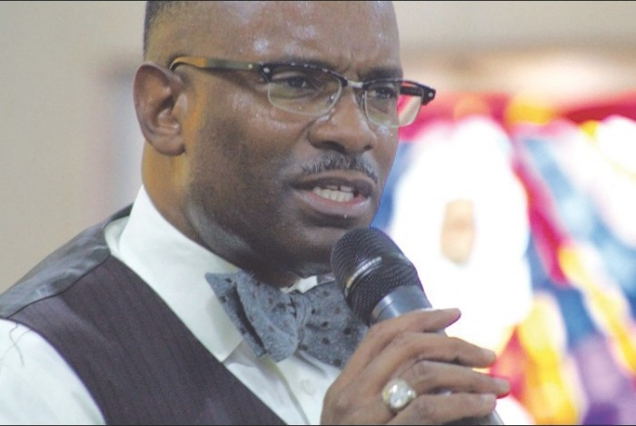 Pastor Byron Smith (photo by Troy Tieuel)