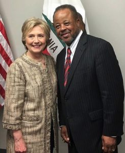 Pastor Rumph and U.S. presidential candidate Hillary Clinton.