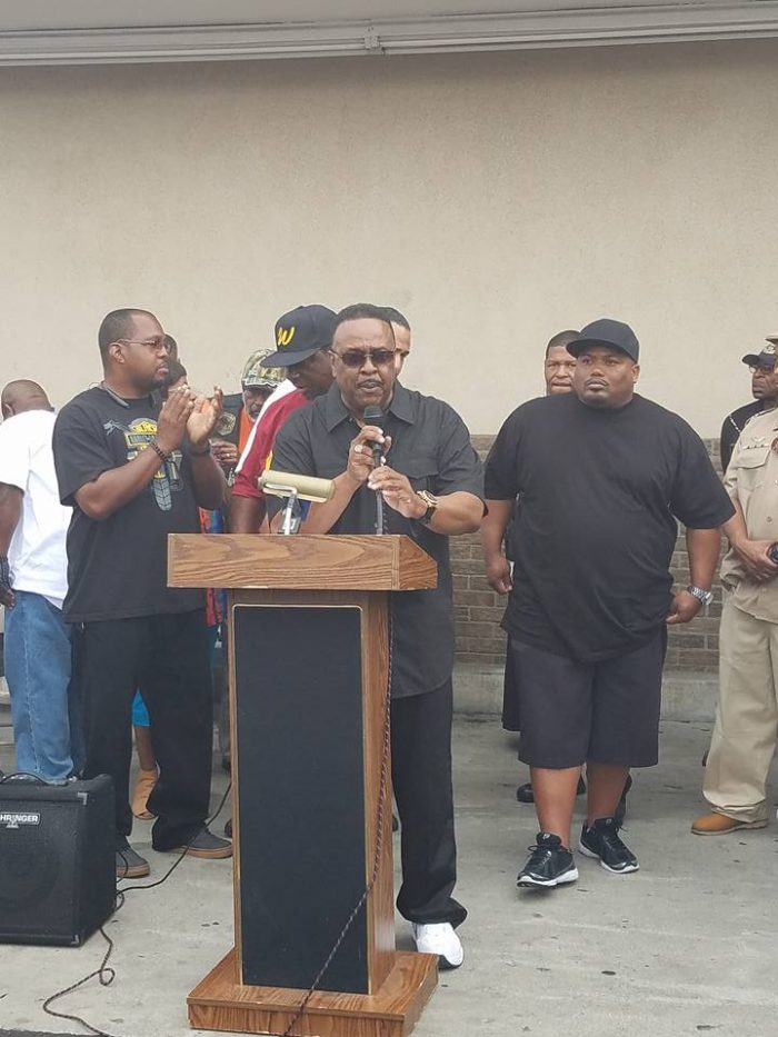 Khalid Shah founder of Stop the Violence Increase the Peace Foundation and Chair of the Safe Communities Initiative, addresses the 7th annual Walk for life audience. (Courtesy Photo)