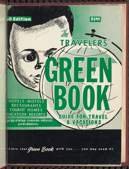 This updated photo courtesy of The New York Public Library shows an undated copy of The Travelers' Green Book from 1960. Black travelers for decades needed a guide known as the Green Book to help located the few motels and restaurants that would serve them. Now a writer is hoping to bring attention to the businesses along the historic Route 66 that once provided safe havens for black travelers who braved the road for simple family vacations. (The New York Public Library via AP)