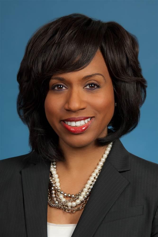 Official headshot of Boston City Councillor Ayanna Pressley. FayFoto/Boston