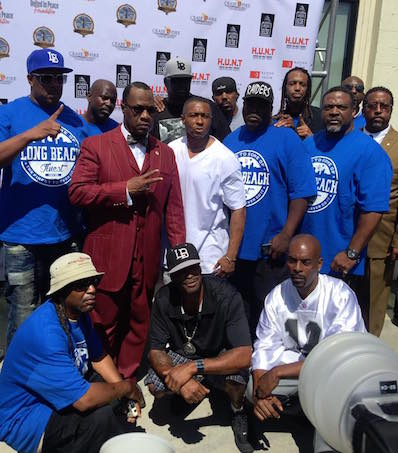 Minister Tony Muhammad, Nation of Islam's Western Region representative stands in solidarity with brothers from Long Beach, Ca. (Courtesy Photo)