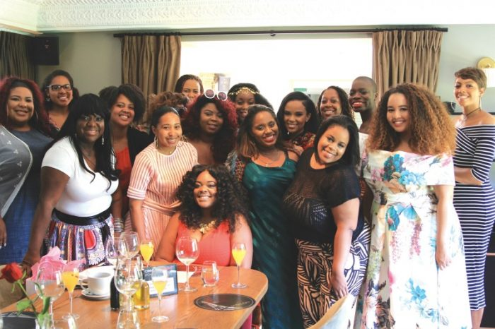 Christina Brown (center) with attendees of the Los Angeles Brown Girls Love Brunch. (courtesy photo)