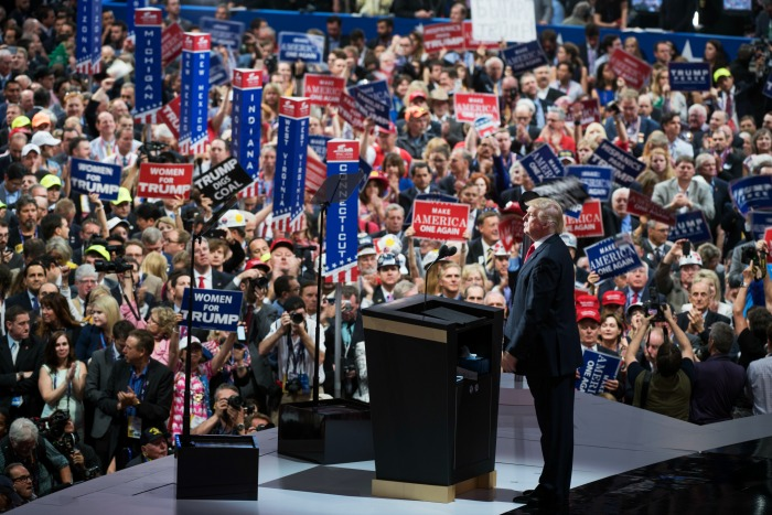Trump Makes Republican Convention Whiter Than Usual, Some