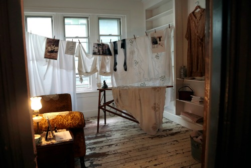 In this July 1, 2016 photo, a room dedicated to black laundresses is shown on the second floor of The Colored Girls Museum in the Germantown section of Philadelphia. (AP Photo/Jacqueline Larma)