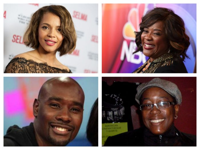 (Top left to right) Carmen Ejogo and Loretta Devine (Bottom l to r) Morris Chestnut and Cheryl Dunye (AP Photo)
