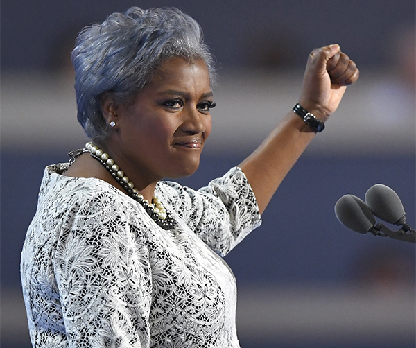 Democratic National Committee Vice Chair Donna Brazile speaks during the second day of the Democratic National Convention in Philadelphia , Tuesday, July 26, 2016. (AP Photo/Mark J. Terrill)