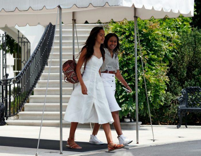 Malia and Sasha Obama at Martha's Vineyard. (AP photo)