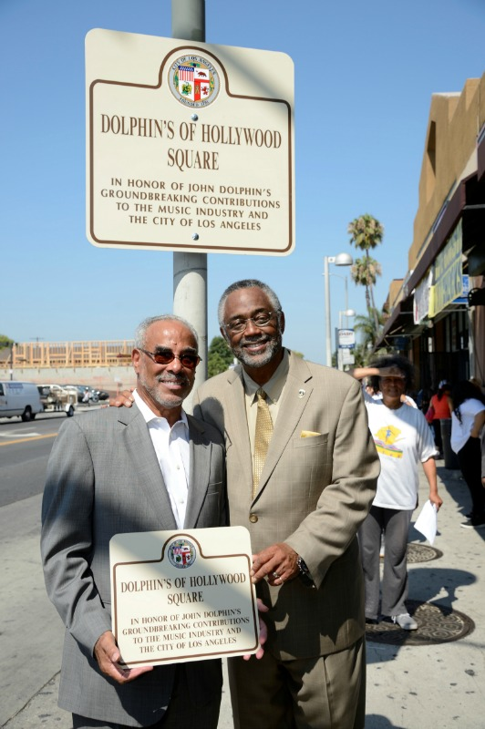 Michael Dolphin and Councilman Curren D. Price (courtesy photo)
