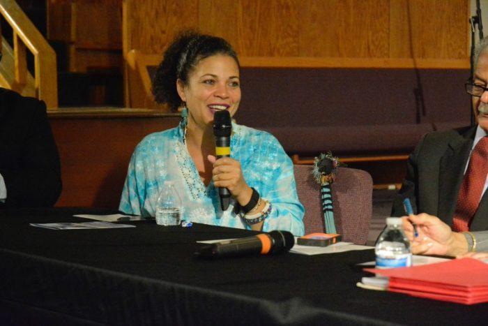 Dr. Melina Abdullah, co-founder of Black Lives Matter-LA ( LA Sentinel/ Xavier Higgs)