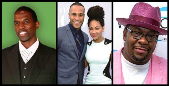 Leimert Park Book Fair will also feature special guests (L-to-R): Former NBA player A.C. Green, celebrity power couple DeVon Franklin and Meagan Good and Bobby Brown. Collage by Brian W. Carter