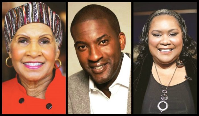 The 10th Aniiversary of the Leimert Park Book Fair will feature special guests (L-to-R): restaurateur and reality star Miss Robbie, motivational speaker and author Ramsey Jay Jr. and author Zane. Courtesy Photo Collage by Brian W. Carter