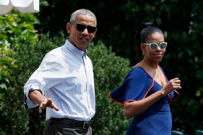 President Barack Obama and first lady Michelle Obama walk from the White House, Saturday, Aug. 6, 2016, in Washington, to board Marine One, with their daughters Sasha and Malia, en route to Andrews Air Force Base, Md., and on to Martha's Vineyard for a family vacation. (AP Photo/Carolyn Kaster) 2- Malia Obama, left, and Sasha Obama, right, walk from the White House, Saturday, Aug. 6, 2016, in Washington, to board Marine One, soon to be followed by their parents President Barack Obama and first lady Michelle Obama, en route to Andrews Air Force Base, Md., and on to Martha's Vineyard for a family vacation. (AP Photo/Carolyn Kaster) First family arrives at Martha's Vineyard for two-week break. (AP photo)