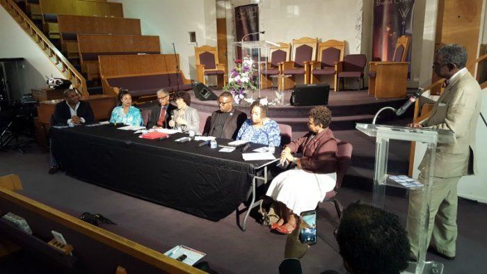 Political Action Panel at Christ Second Baptist Church, Long Beach