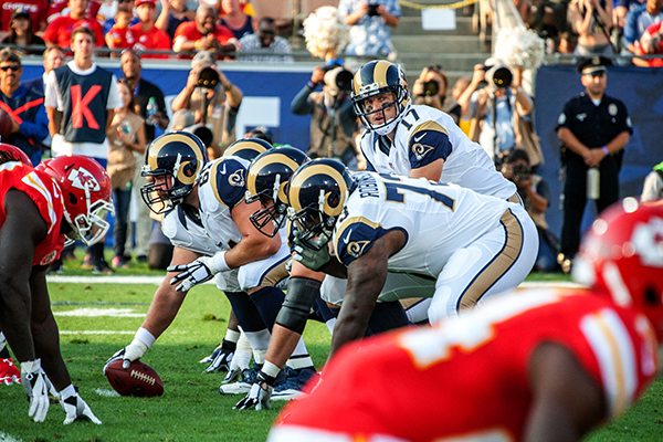 The Rams will go on a three-game road trip. They return to the Coliseum on Sept. 18 (L.A. Sentinel/ Robert Torrence)