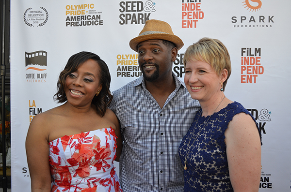 (Left to right) Director Deborah Riley Draper, and Executive Producers Blair Underwood, and Amy Tiemann (Amanda Scurlock/ L.A. Sentinel)