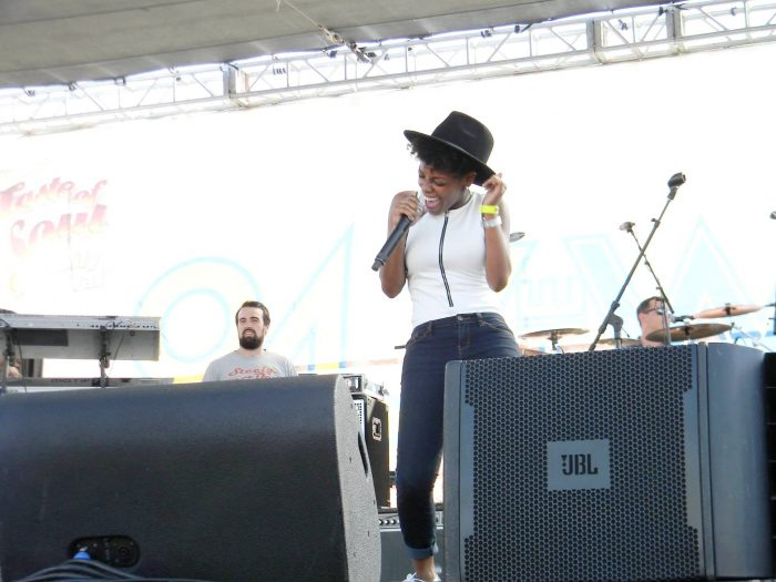 Tia P performing on the StarQuest stage during last year's Taste of Soul singing competition. (courtesy photo)