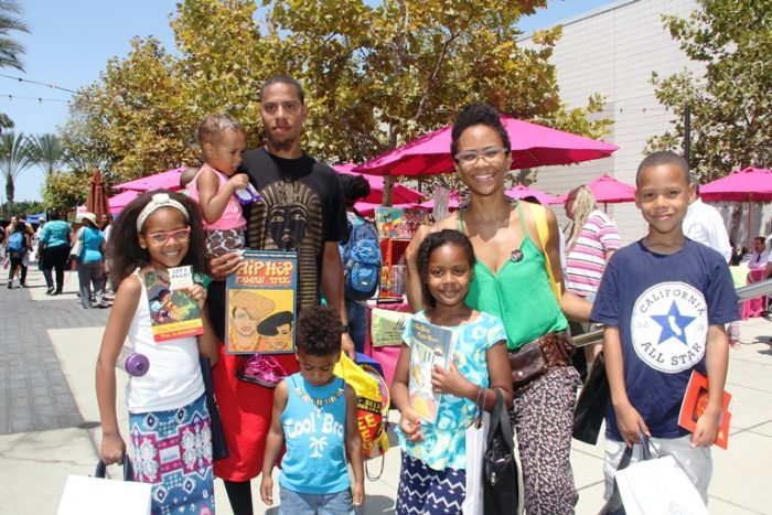 Family attends 10th Annual Leimert Park Village Book Fair