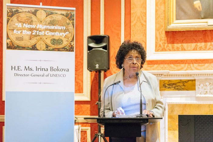 "U.S. Congresswomen (ret.) Diane Watson Speaks in London at ""A New Humanism fo the 21st Century."""