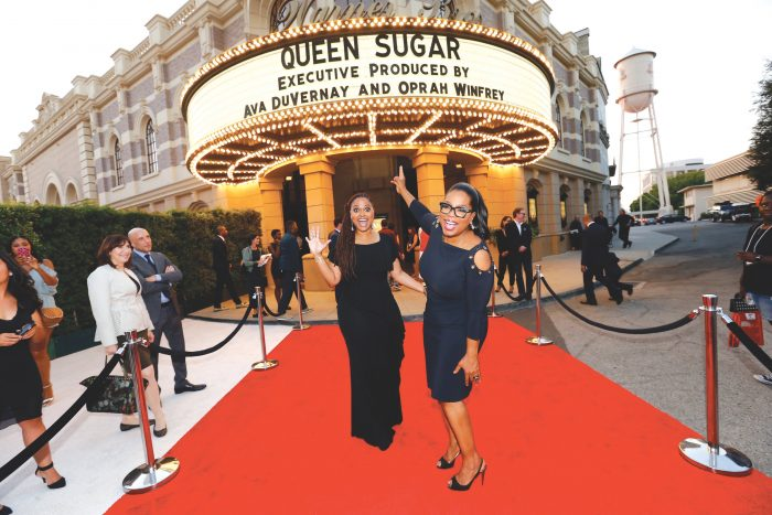 BURBANK, CA - AUGUST 29: Executive producer/creator Ava DuVernay (L) and executive producer Oprah Winfrey attend OWN: Oprah Winfrey Network's Queen Sugar premiere at the Warner Bros. Studio Lot Steven J. Ross Theater on August 29, 2016 in Burbank, California. (Photo by Mark Davis/WireImage)