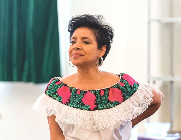 """Director Phylicia Rashad on the first day of rehearsal for August Wilson's """"Ma Rainey's Black Bottom""""(Photo by Craig Schwartz)"""