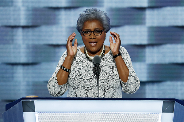 Democratic National Committee Vice Chair Donna Brazile speaks during the second day of the Democratic National Convention in Philadelphia , Tuesday, July 26, 2016. (AP Photo/J. Scott Applewhite)