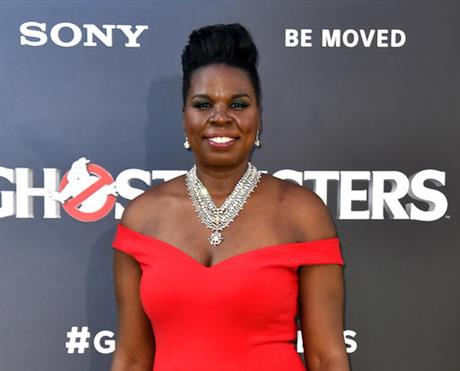 """FILE - In this July 9, 2016 file photo, actress Leslie Jones arrives at the Los Angeles premiere of """"Ghostbusters."""" (Photo by Jordan Strauss/Invision/AP, File)"""