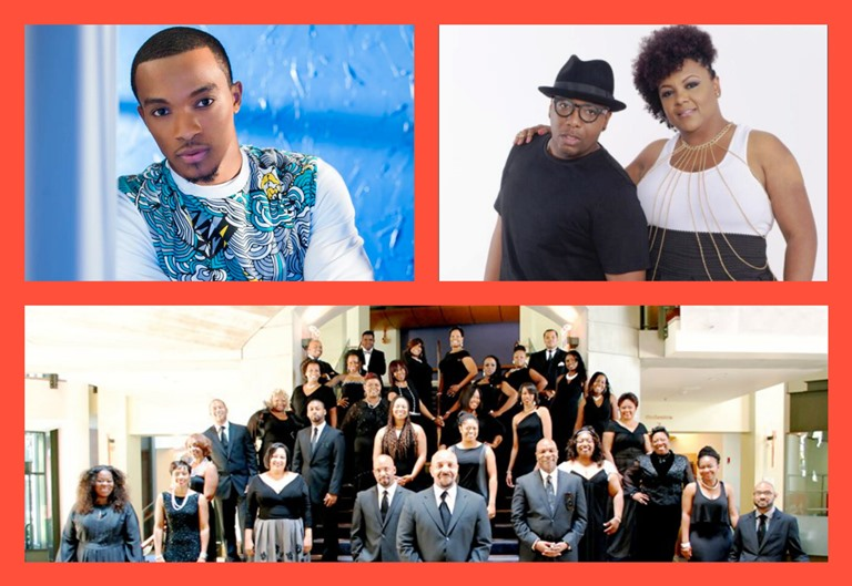 (Top, Left): Jonahtan McReynolds; (Top, Right): The Haddons; (Bottom): L.A. Mass Choir