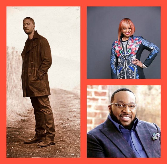 (Left): Donald Lawrence; (Right, Top): Karen Clark-Sheard; (Right, Bottom): Marvin Sapp