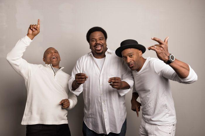 Creator/Producer Reginald Hudlin, Host Craig Robinson, and Grammy Winner Marcus Miller.  Courtesy Photo