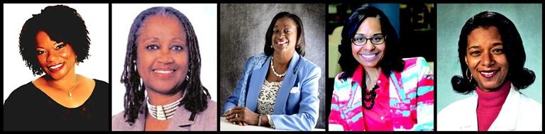 (From Left-to-Right): Pat Prescott,Brenda Shockley,Jacqueline Dupont-Walker,Sydney Kamlager-Dove &Dr. Tumani S. Moore-Leatherwood