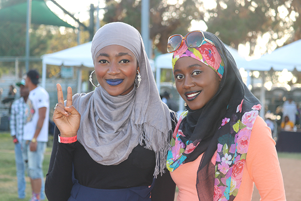 Sisters rock their hijabs at Power Fest 2016. (Photo Credit: Brittany K. Jackson)