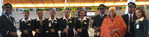 The staff of Ethiopian Airlines, which flew all of the donations to Tanzania for free.