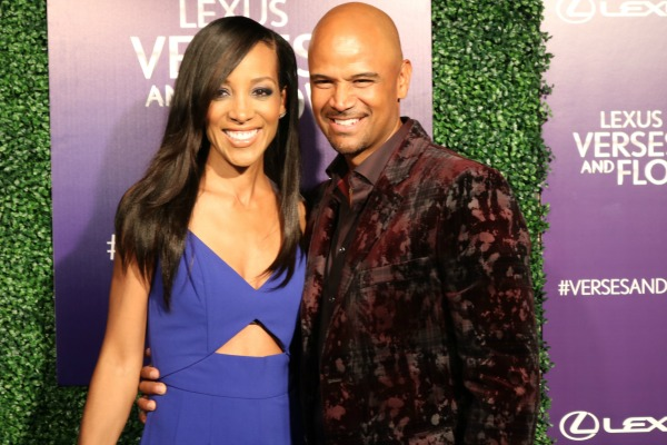 Celebrity friends Shaun Robinson and Versus & Flow host Dondre T. Whitfield hit the scene to celebrate Versus and Flow Season 6.