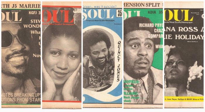 A purveyor of cool in the black community, some of SOUL Newspaper's popular issues featured Stevie Wonder, Aretha Franklin, Quincy Jones, Richard Pryor and Diana Ross. (Courtesy Photo)