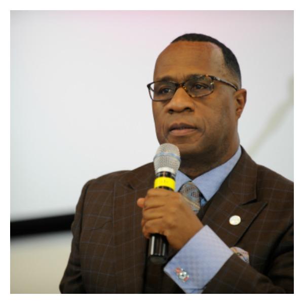 Minister Tony Muhammad, Nation of Islam's Western Region representative (Photo by Valerie Goodloe)