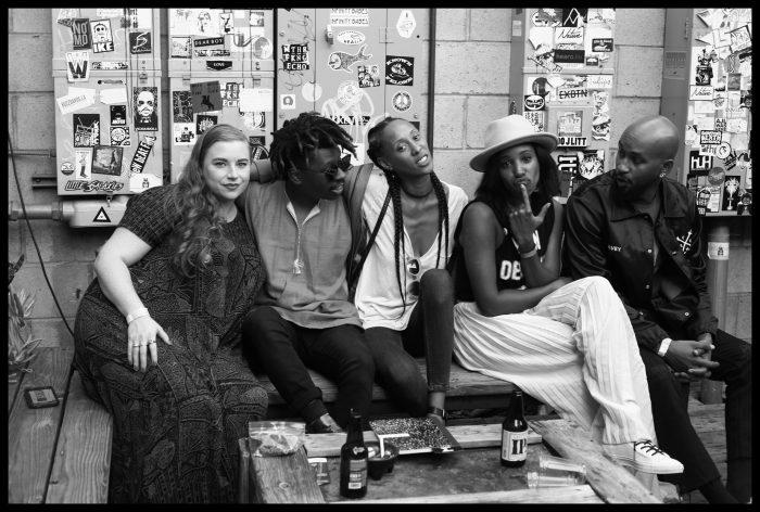 Producer, Emcee, DJ, Poet, Def Sound photographed at rhythmalizm with Ms. Jack Davey & Brook D'Leau of future soul duo J*DaVeY and Nai-Vasha Thomas of UNDO Magazine. (Courtesy Photo)